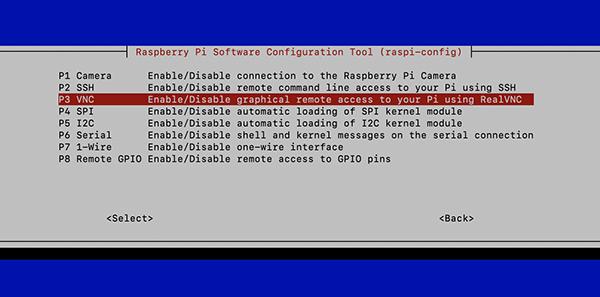 Raspberry pi4 P3 VNC